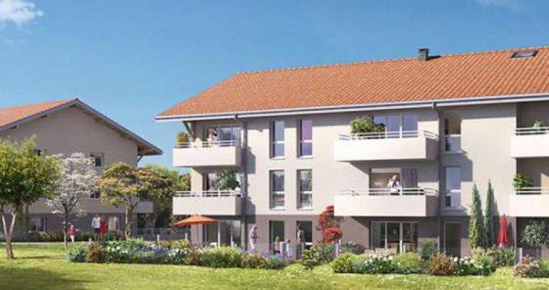 Achat / Vente programme immobilier neuf Larringes au cœur du Hameau de Verossier, à 4km d'Evian (74500) - Réf. 1293